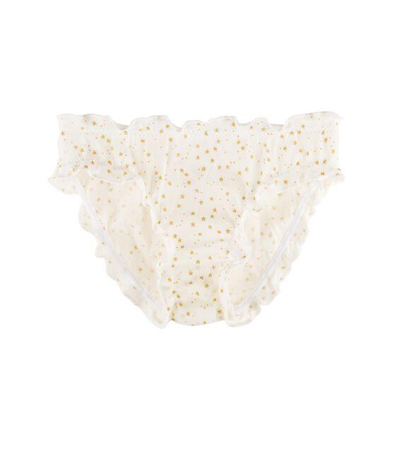 Meisjesonderbroek wit Marshmallow / geel Or
