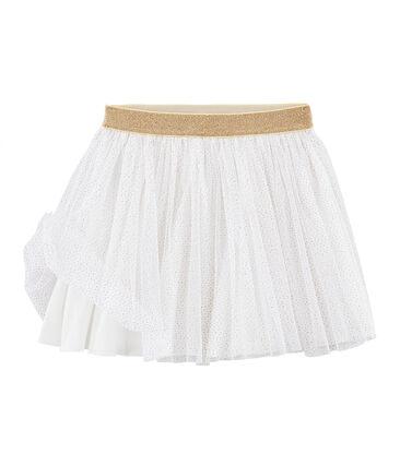 Jupe en tulle enfant fille blanc Marshmallow / jaune Or
