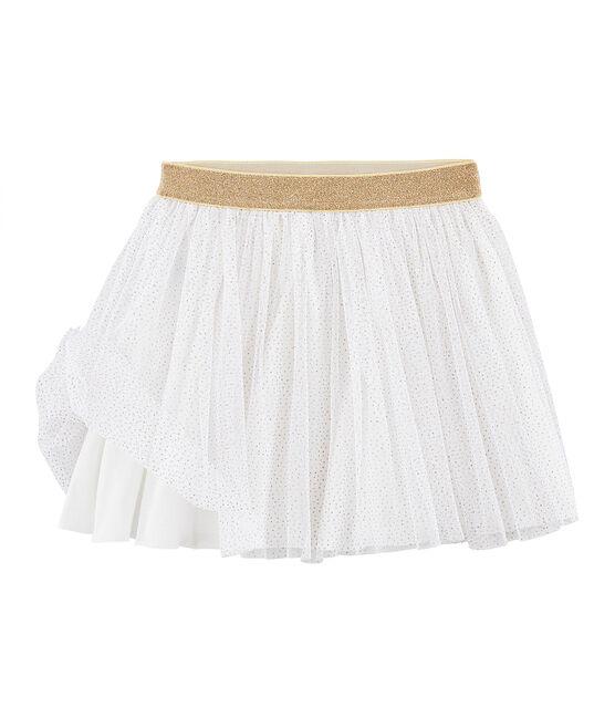Meisjesrok van tule wit Marshmallow / geel Or