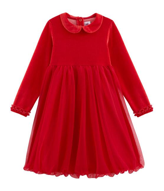 Meisjes jurkje rood Terkuit