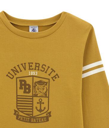 Jongens tee-shirtmet lange mouwen geel Inca