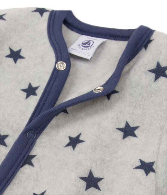 Warme fleecepyjama met dessin voor babyjongens grijs Subway / blauw Logo