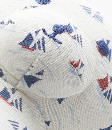 Doudou ourson bébé garçon imprimé
