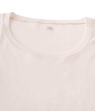 Tee shirt manches longues col danseuse femme rose Fleur