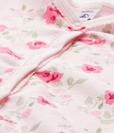 Pyjama met bloemendessin voor babymeisjes