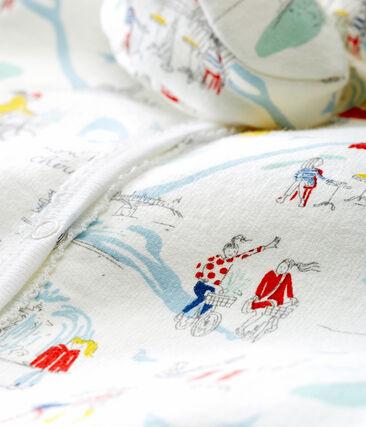 Pyjama en slofjes voor babymeisjes wit Marshmallow / wit Multico