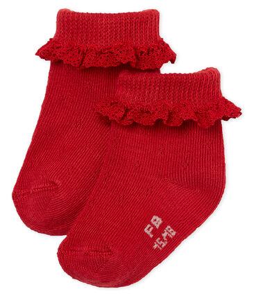 Sokken met kant voor babymeisjes