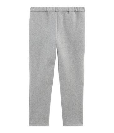 Pantalon maille enfant fille gris Subway