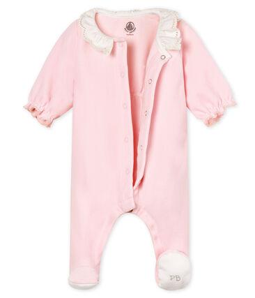 Pyjama van katoenverlours voor babymeisjes