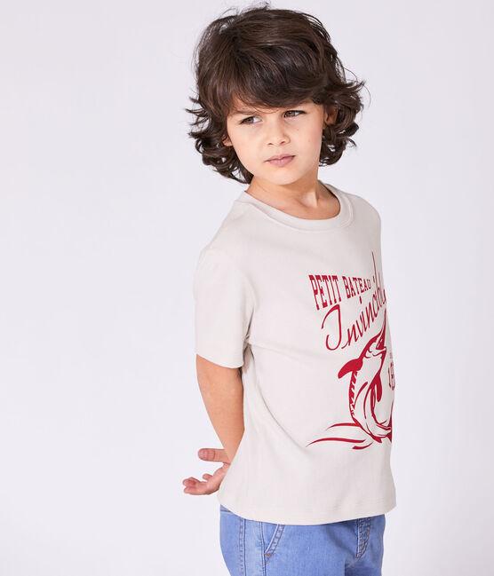 T-shirt garçon à motif blanc Feta