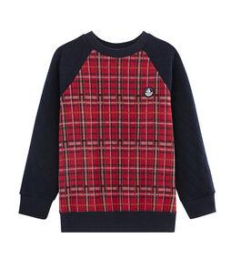 Sweatshirt jongens rood Terkuit / blauw Smoking