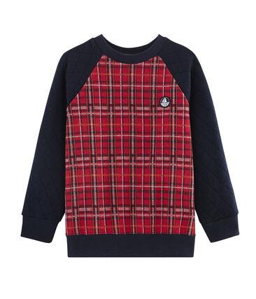 Sweatshirt enfant garçon rouge Terkuit / bleu Smoking