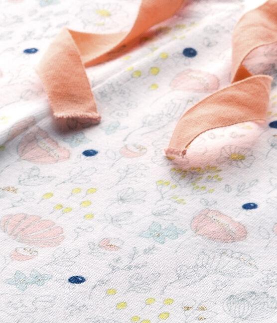 Mix & Match meisjespyjamabroek wit Ecume / roze Rose