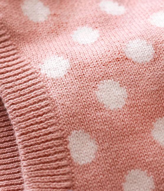 Originele uniseks bivakmuts roze Joli / wit Marshmallow