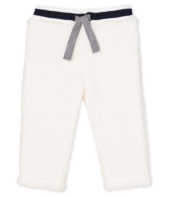 Pantalon bébé mixte en sherpa blanc Marshmallow
