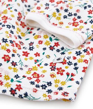 Nachthemd van gebreide stof voor meisjes wit Marshmallow / wit Multico