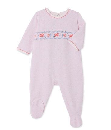 Fluwelen pyjama voor babymeisjes