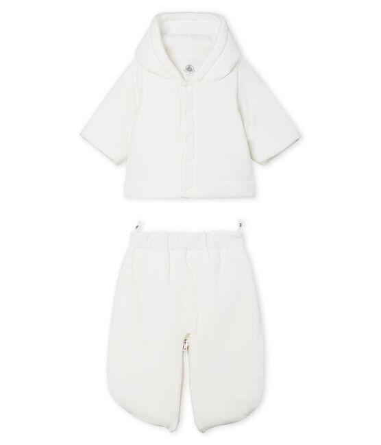 Combipilote 3 en 1 bébé en velours blanc Marshmallow