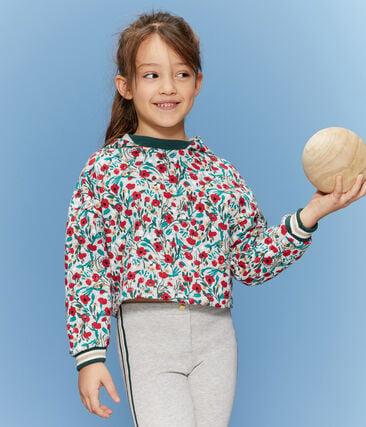 Sweatshirt meisjes grijs Beluga / wit Multico