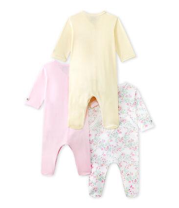 Set van drie pyjama's voor babymeisjes