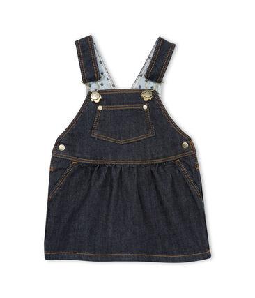 Robe salopette bébé fille en jean
