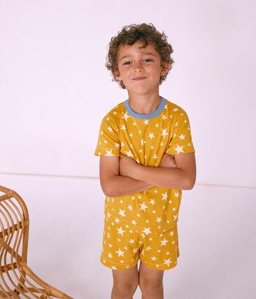 Korte gebreide jongenspyjama