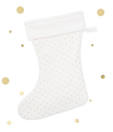 Kerstsok voor meisjes wit Lait / geel Or