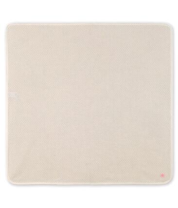 Babylaken van gebreide stof wit Marshmallow / roze Gretel