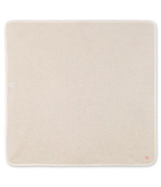 Drap de maternité bébé en côte blanc Marshmallow / rose Gretel