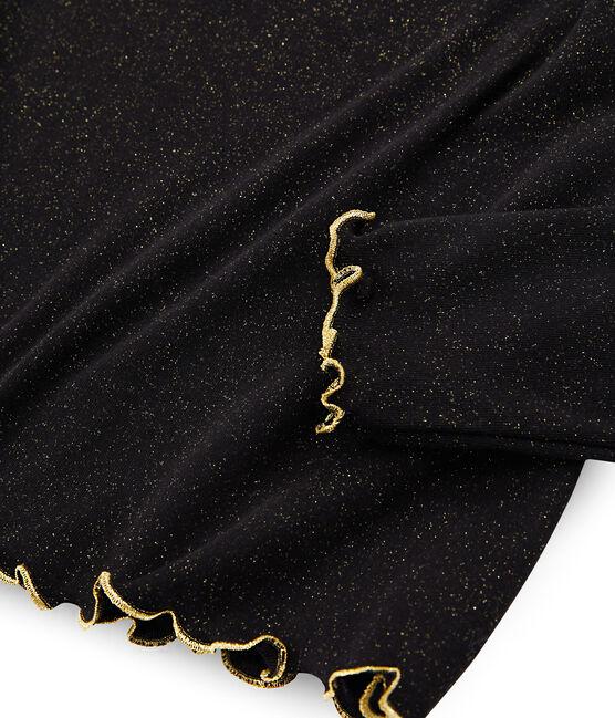 Sous pull pailleté femme noir Noir / jaune Or