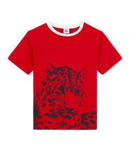 T-shirt voor jongens rood Terkuit