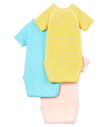 Trio de bodies naissance manches courtes bébé fille