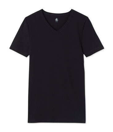 Heren-t-shirt met korte mouwen en v-hals