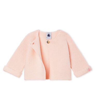 Cardigan baby van tricot 100% katoen roze Fleur