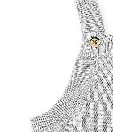 Lange salopette babyjongen van tricot wol, nylon en alpaca.
