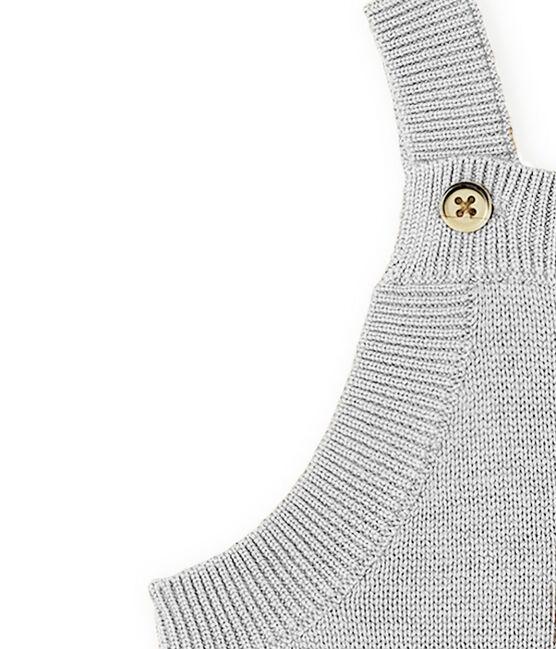 Lange salopette babyjongen van tricot wol, nylon en alpaca. grijs Montelimar Chine