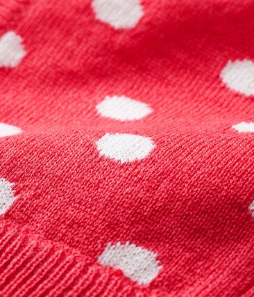 Cagoule bébé mixte rouge Signal / blanc Marshmallow