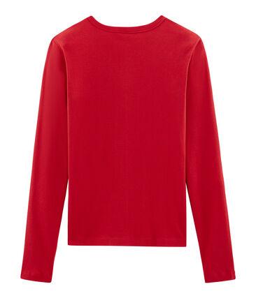 Iconisch T-shirt lange mouwen vrouwen rood Terkuit