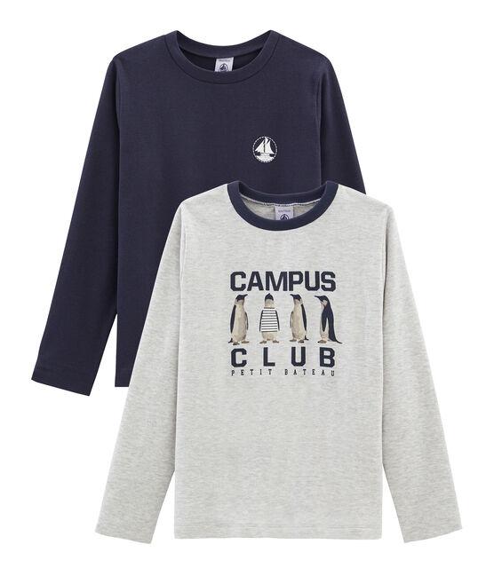 Lot de 2 tee-shirts garçon : sérigraphié + uni lot .