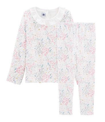 Pyjama meisje van tubic wit Marshmallow / wit Multico