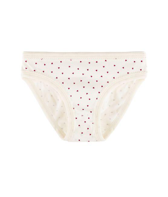 Meisjesonderbroek wit Marshmallow / rood Clafouti