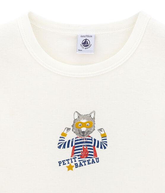 tee-shirt manches courtes petit garçon blanc Marshmallow