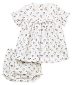 Jurk met print met bloomer voor babymeisje