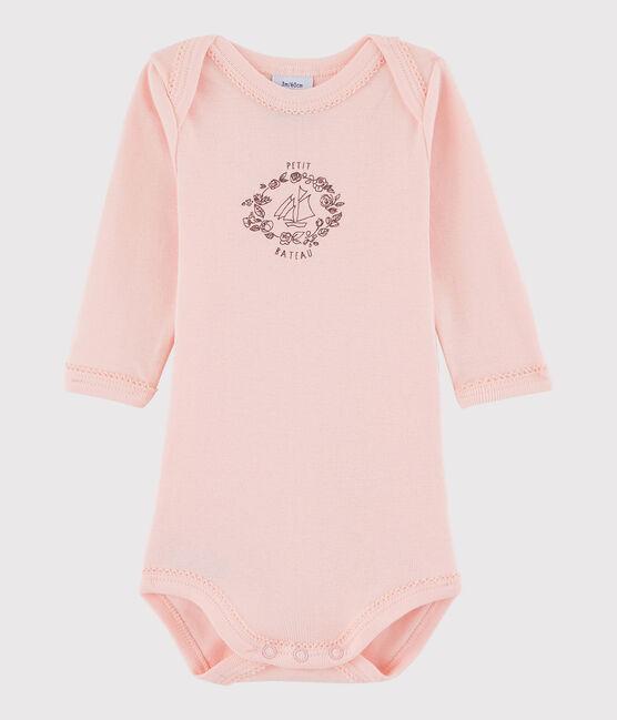 Body manches longues bébé fille rose Venus