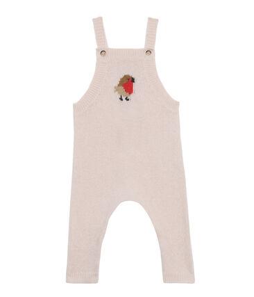 Salopette longue bébé garçon en tricot laine, nylon et alpaga.