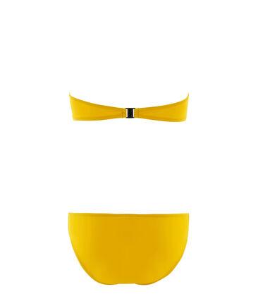 Badpak met 2 delen voor vrouwen geel Bamboo