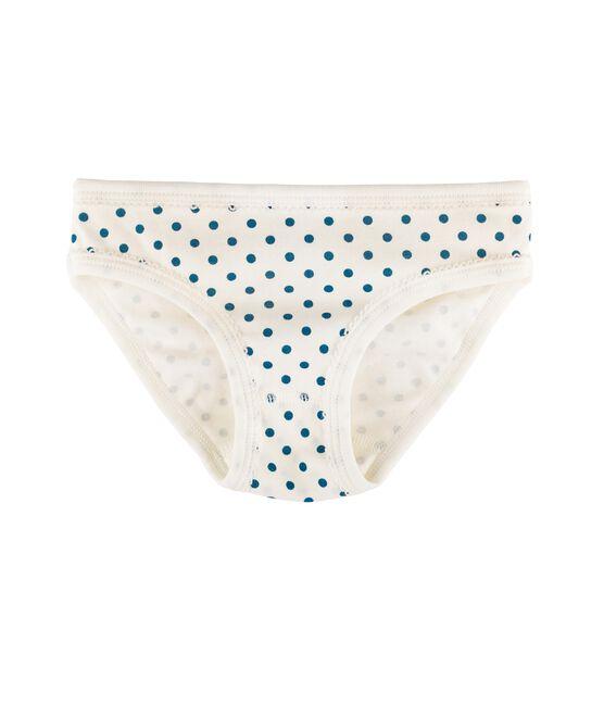 Meisjesonderbroek wit Marshmallow / blauw Contes