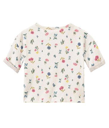 Meisjes-T-shirt in licht tubic met dessin