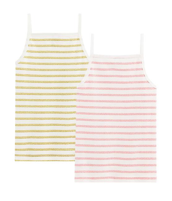 Twee shirts met schouderbandjes voor meisjes set .