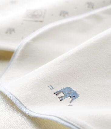 Doos met badhanddoek en slabbetje voor babyjongens